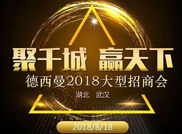 聚千城·赢天下 8.18德西曼全国招商峰会武汉站